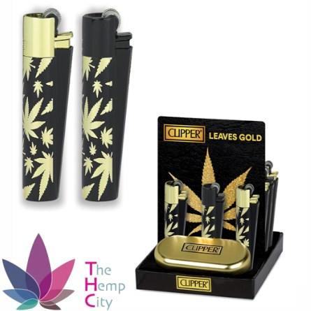 Gold Leaves Lighters 12pcs
